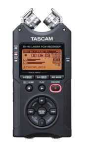 Tascam Dr-40 sound equipment for filmmaking